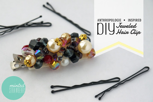 Anthro Inspired Jewelled Hair Clip
