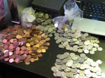 Counting my Rhinebeck pennies!