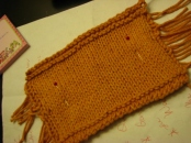 First adult sweater swatch