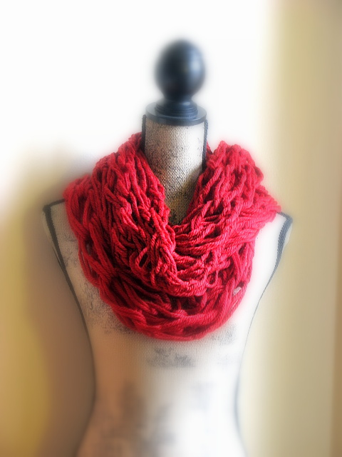 Arm Knitting Cowl -  Sienna